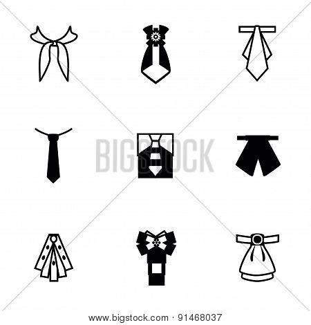 Vector Tie icon set