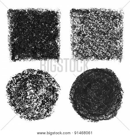 Oil pastel elements
