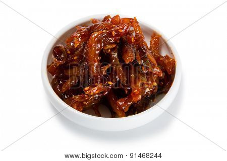 Spicy-sweet salad heh of cod. From a series of Food Korean cuisine.