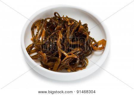 Spicy salad heh of seaweed. From a series of Food Korean cuisine.