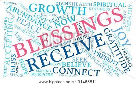 Blessings Word Cloud