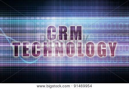 CRM Technology on a Tech Business Chart Art
