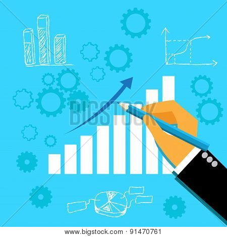 Drawing, business, graph