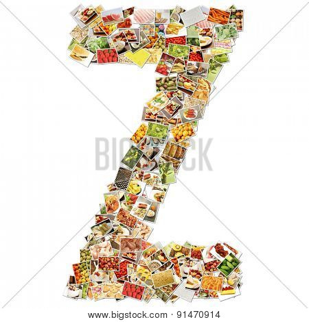Letter Z Uppercase Font Shape Alphabet Collage