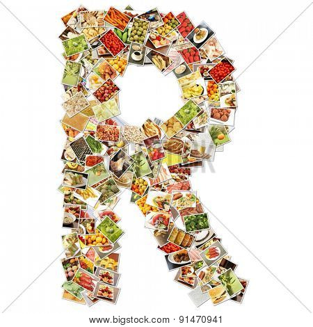 Letter R Uppercase Font Shape Alphabet Collage