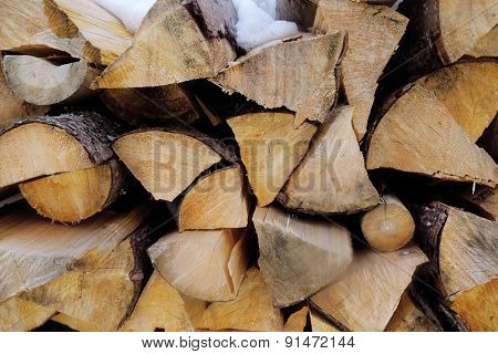 Firewood, closeup