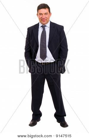 Mature Business Man Full Body