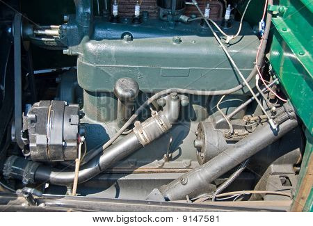 Original vintage car engine