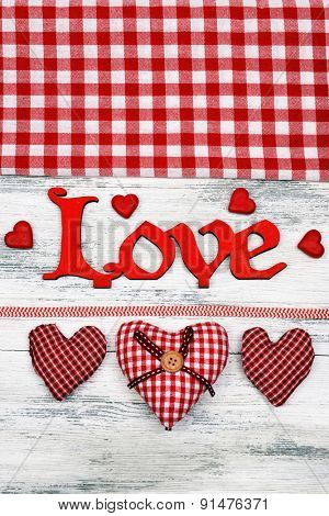 Beautiful romantic background on Valentines Day close-up