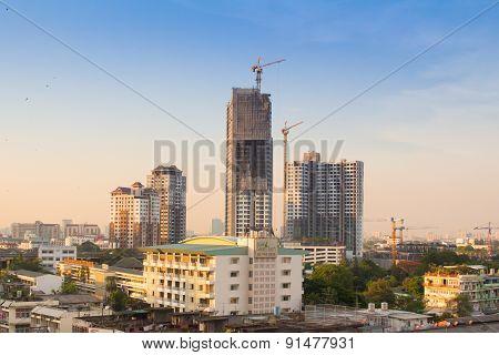 Bangkok Sunset Scene