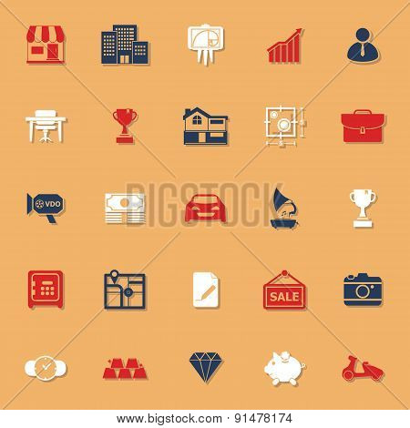 Asset And Property Classic Color Icons With Shadow