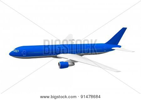 Model of plane isolated on white background