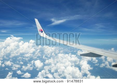 Malaysia Airlines Boeing 737-800 Flying Over Malaysian Sky