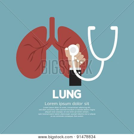 Stethoscope Checking On Lung.