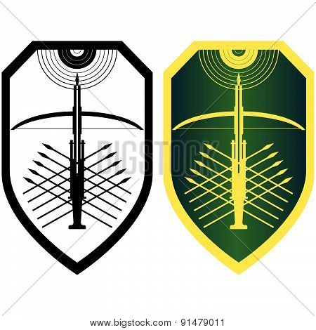 Shield, crossbow and arrows-2