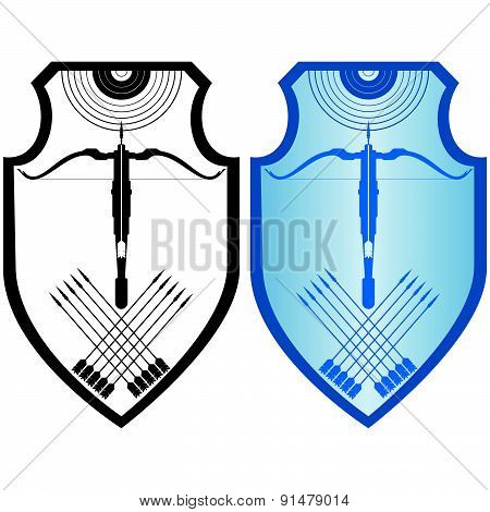 Shield, crossbow and arrows-3