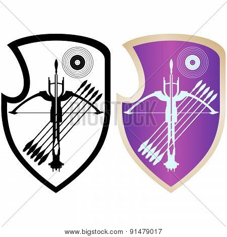 Shield, crossbow and arrows-4