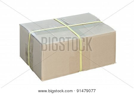 Closed And Taped Cardboard Box