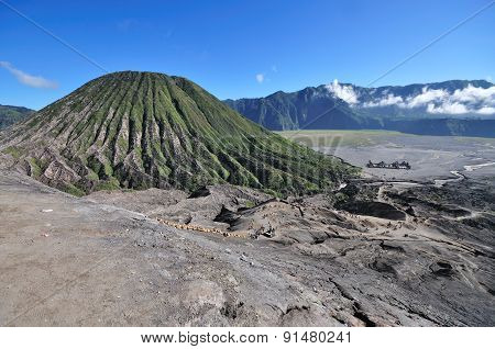 Mount Bromo landscape in East Java Indonesia.