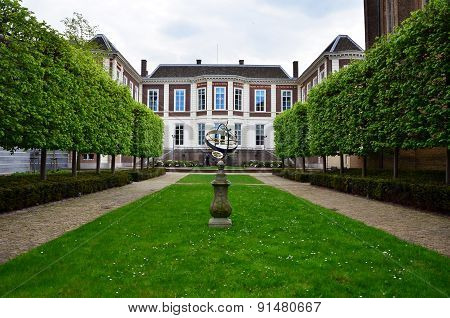 The Hague, Netherlands - May 8, 2015: Garden At Council Of State In The Hague