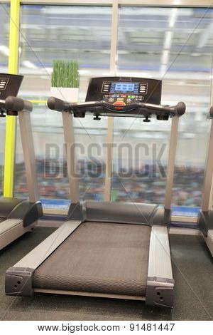 image of treadmill in a fitness hall