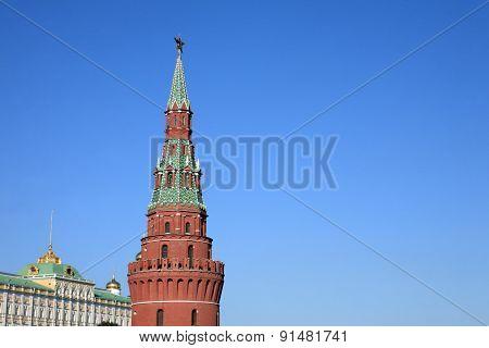 Kremlin Tower On Sky Background In City Center