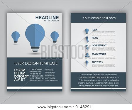 Design Business Flyers In A Flat Style