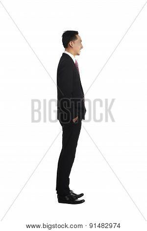 Fullbody Asian Business Man