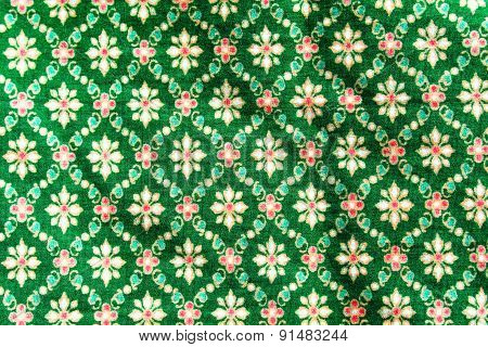 Popular Batik Sarong Pattern Background In Thailand, Traditional Batik Sarong In Asian