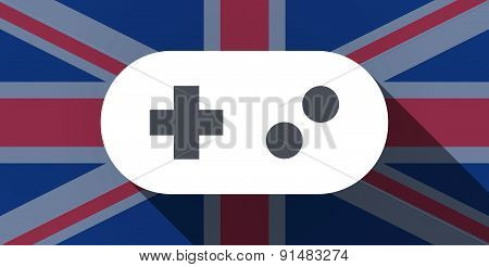 United Kingdom Flag Icon With A Game Pad