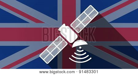 United Kingdom Flag Icon With A Satellite
