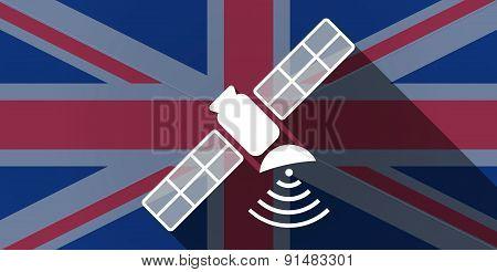 United Kingdom Flag Icon With A Satellite