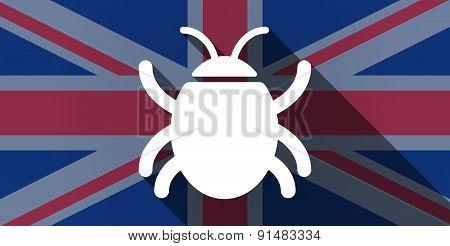 United Kingdom Flag Icon With A Bug