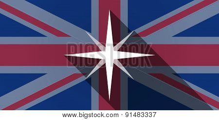 United Kingdom Flag Icon With A Star