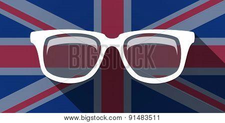 United Kingdom Flag Icon With A Glasses
