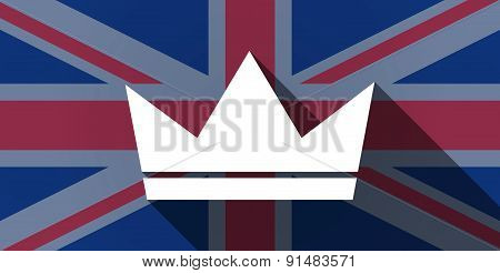 United Kingdom Flag Icon With A Crown