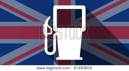 United Kingdom Flag Icon With A Gas Station
