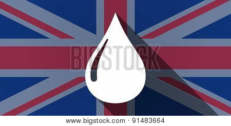 United Kingdom Flag Icon With A Fuel Drop