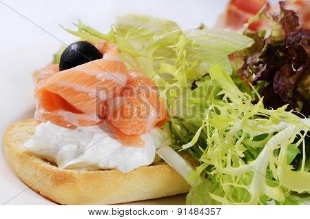 The Bruschetta With Various Toppings