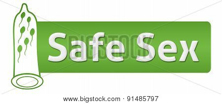 Safe Sex Green With Condom Shape