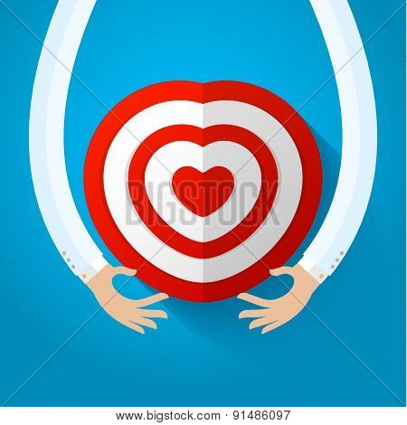 Red heart target