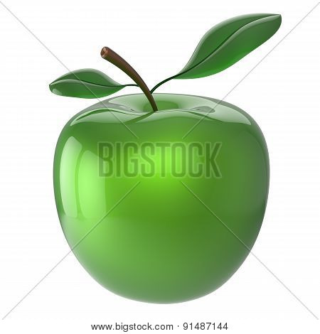 Apple Green Fruit Organic Healthy Icon