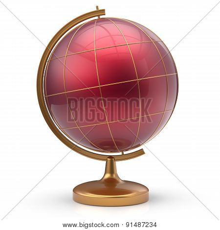Globe Red Blank Planet Mars