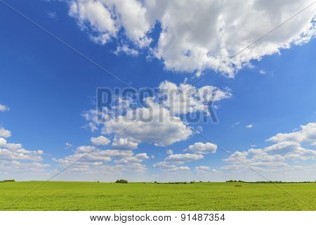 Countryside Nature Background.
