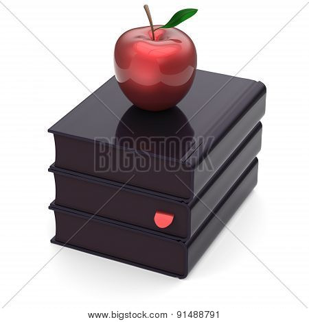 Black Books Red Apple Textbooks Stack Index Education