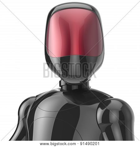 Robot Cyborg Black High Tech Bot Android Character Avatar