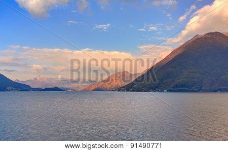 Lake Lugano Or Ceresio Lake