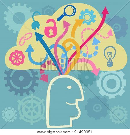 Brain and ideas flow