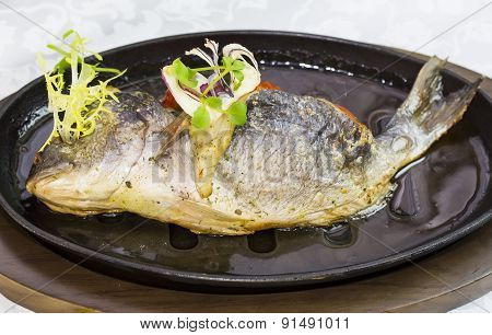Fried fish dorado