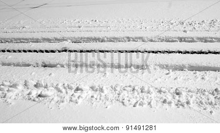 Railway Track Cover With Snow